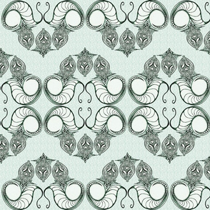 Line_Drawing_Filigree_Motif_1_Brocade_Cool_Green