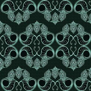 Line_Drawing_Filigree_Motif_1_Brocade_Dark_Green