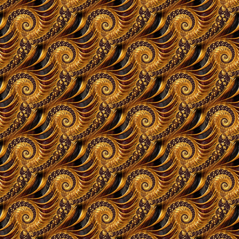 fractal in gold fabric by stofftoy on Spoonflower - custom fabric