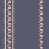 Flower Border in Purple and Pink