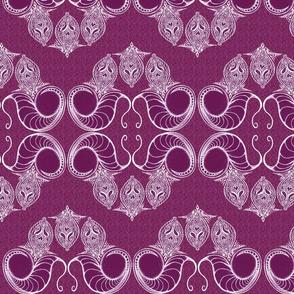 Line_Drawing_Filigree_Motif_1_Brocade_Very_Pink