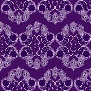 Line_Drawing_Filigree_Motif_1_Brocade_Vivid_Purple