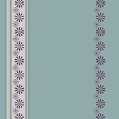 Border of Flowers in Purple, Gray, and Aqua