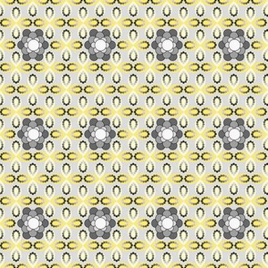 Gray and Yellow Geometric Flowers and Petals