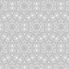maze in white