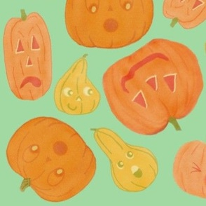 Large Gourds and pumpkins