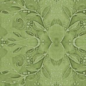 leaf swirl green