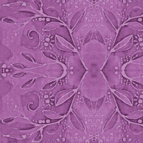 leaf swirl  purple fuchsia fabric by bodabe on Spoonflower - custom fabric