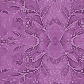leaf swirl  purple fuchsia