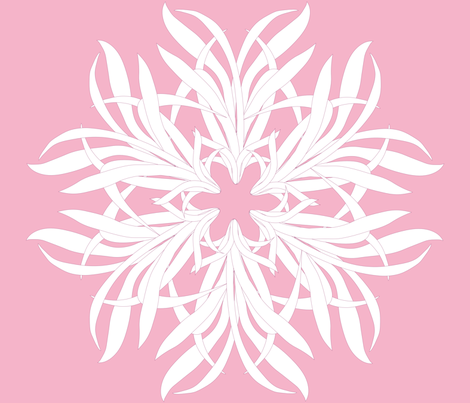 grass flower white on pink fabric by claudiamaher on Spoonflower - custom fabric