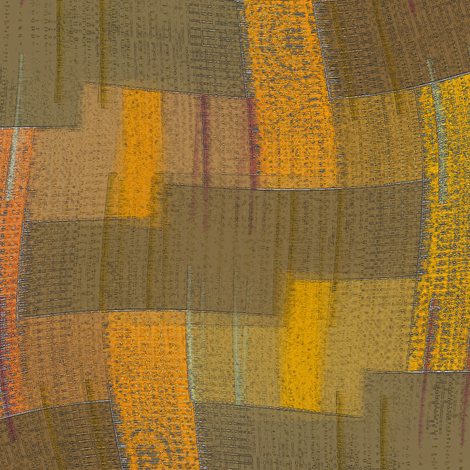 Wave Weave (Ochre) fabric by david_kent_collections on Spoonflower - custom fabric