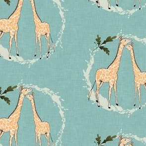 Giraffe_on_blue_linen