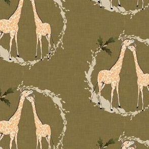Giraffe_on_gold_linen
