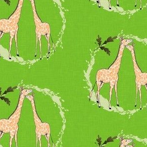 Giraffe_on_green_linen
