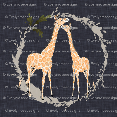 Giraffe_on_navy_linen