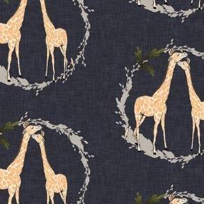 Giraffe_on_navy_linen