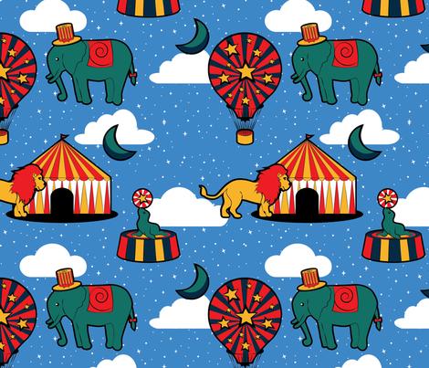 Vintage Circus Fun fabric by anitaboeira on Spoonflower - custom fabric