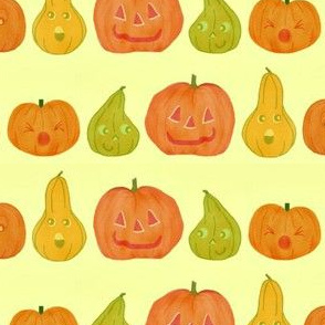 Small pumpkins and gourds