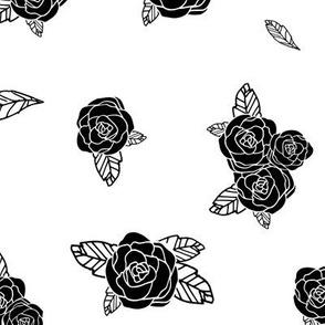 Darling Rose Bud (B+W)