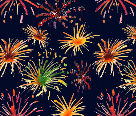 fireworks fabric by belana on Spoonflower - custom fabric