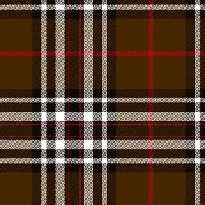 "Southdown tartan - 6"" brown/black/white"