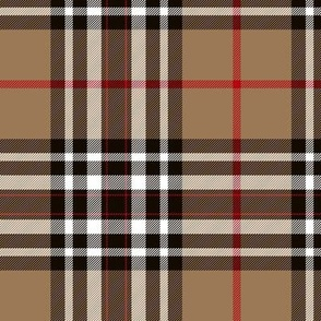 "Southdown tartan - 6"" tan/black/white"