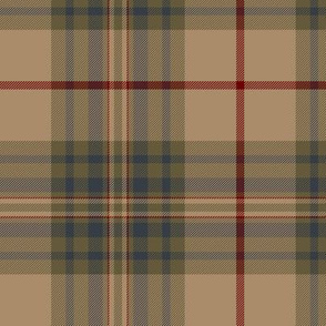"Southdown tartan - 6"" tan/grey/brown"