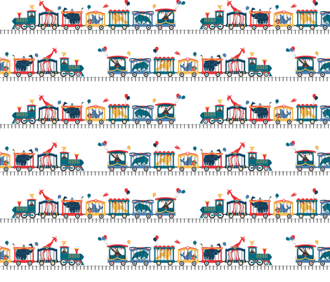 Circus Train fabric by colour_angel_by_kv on Spoonflower - custom fabric