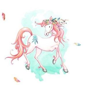 "7"" Bohemian Pink Horse"