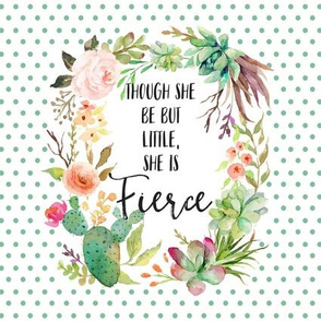 "8.5"" x 8.5"" She is Fierce Quote Print"