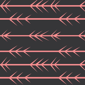 Coral pink arrow spikes