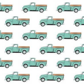 vintage truck - mint on white