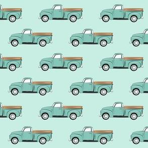 vintage truck - mint
