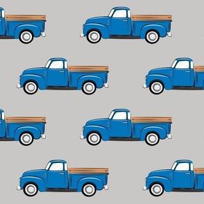 vintage trucks on grey (large scale)