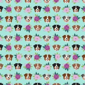 australian shepherd dogs small print xsmall version dogs and florals