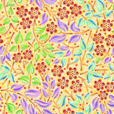 Sunshine Filigree Floral