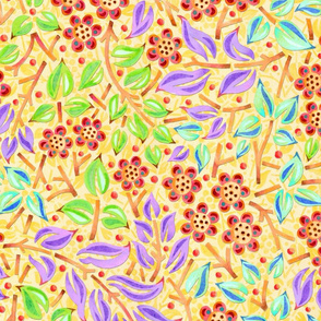 Sunshine Filigree Floral