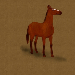 Bay Horse for pillow