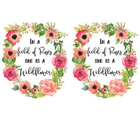 """21""""x36"""" Wildflower Quote / 2 to 1 yard of 42"""" Fabric fabric by shopcabin on Spoonflower - custom fabric"""