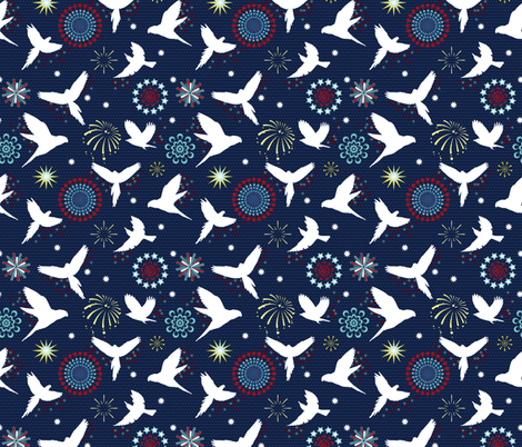 Flying fireworks fabric by colorofmagic on Spoonflower - custom fabric