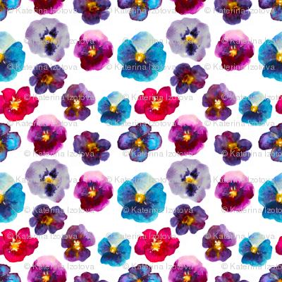 Watercolor violets
