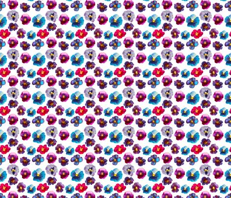 Watercolor violets fabric by katerinaizotova on Spoonflower - custom fabric