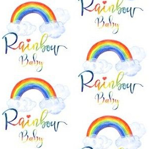 "3"" Rainbow Baby - All Rainbow Fonts"