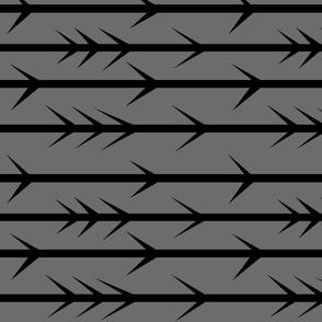 Black arrow spikes