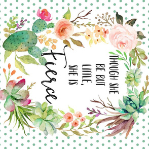 "4 to 1 MINKY FABRIC / FQ / 27""x18"" Fierce Quote"