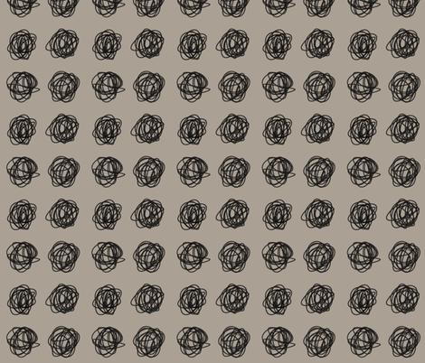 Gray black knotty scribble fabric by nikalola on Spoonflower - custom fabric