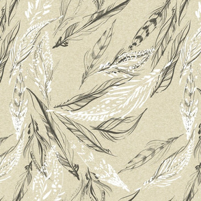 FEATHER LINEN HEATHER