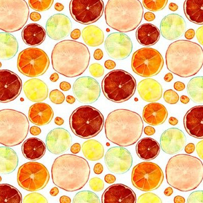 Watercolor citrus pattern