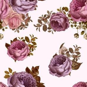 """7"""" Vintage Purple & Pink Roses"""