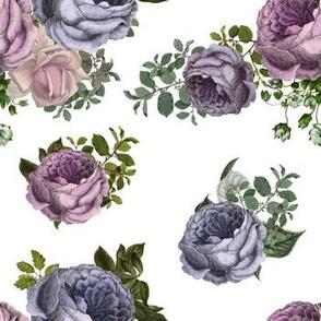 """7""""  Purple, Lilac & Plum Florals"""